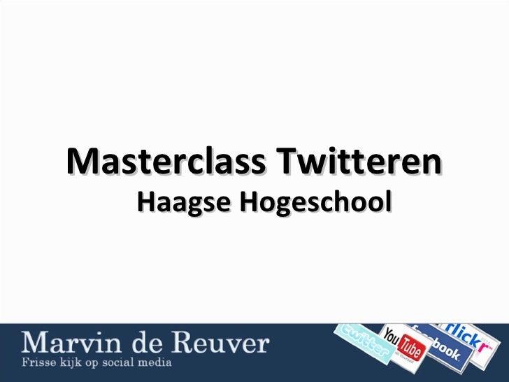 Masterclass Twitteren Haagse Hogeschool