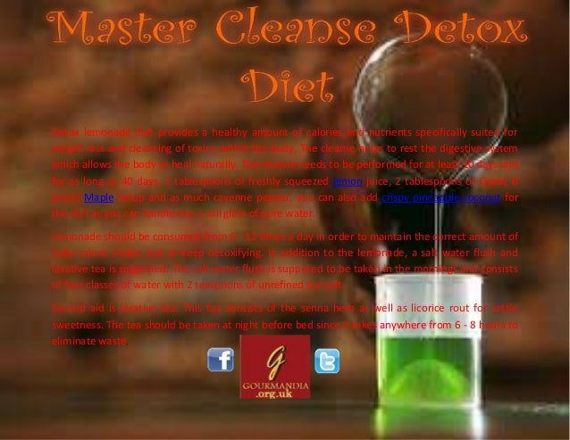 Master Cleanse Detox Diet