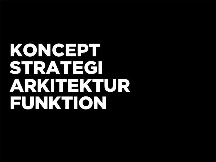 KONCEPT STRATEGI ARKITEKTUR FUNKTION