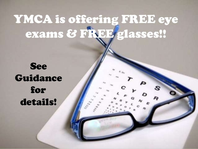 YMCA is offering FREE eye exams & FREE glasses!!   SeeGuidance   for details!