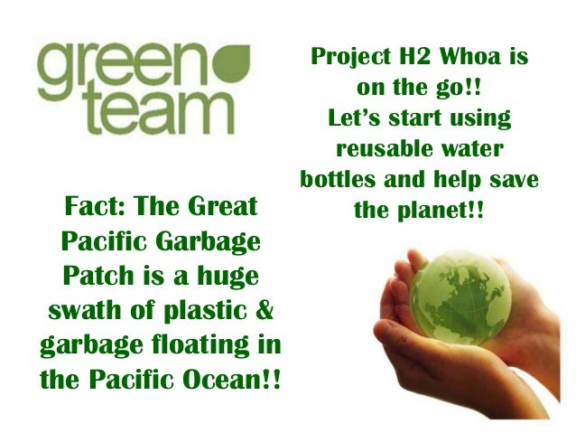 Fact: The Great Pacific Garbage Patch is a huge swath of plastic & garbage floating in the Pacific Ocean!!  Project H2 Who...
