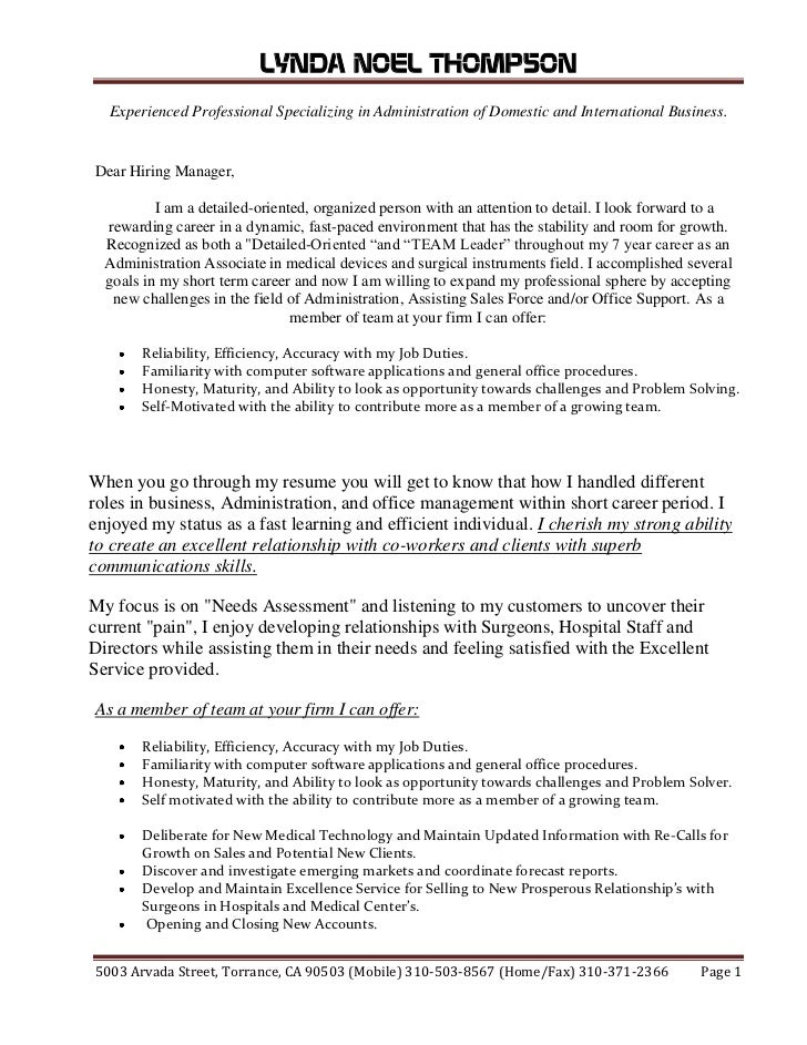 Cover letter for application to university graduate program