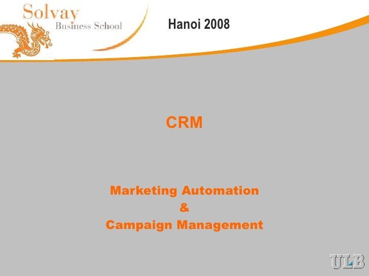 CRM Marketing Automation & Campaign Management