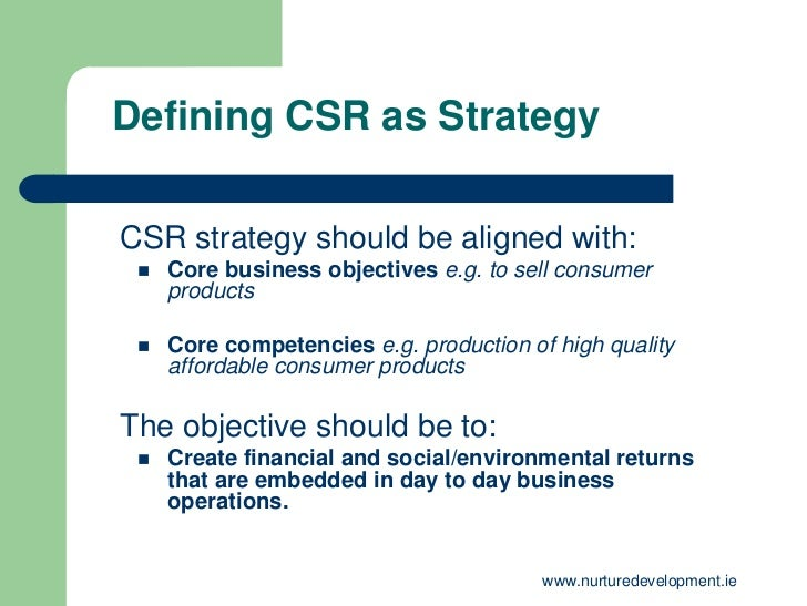 corporate social responsibility in strategic management