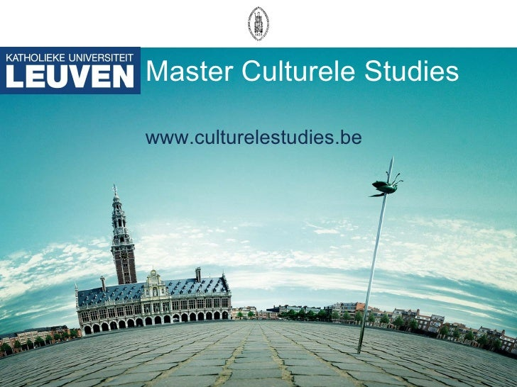 Master Culturele Studies www.culturelestudies.be