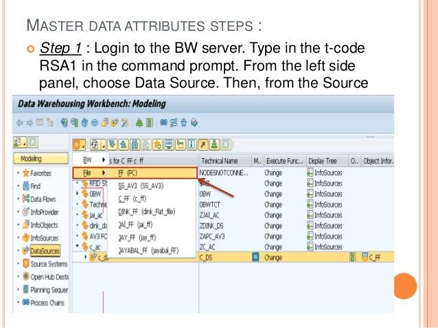 SAP BW - Master data load via flat file