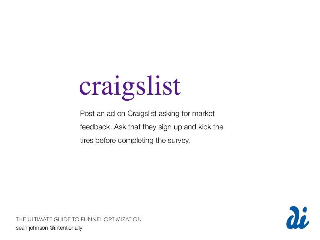 Post an ad on Craigslist