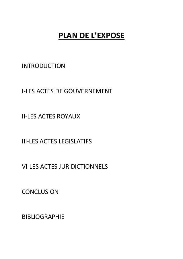 PLAN DE L'EXPOSEINTRODUCTIONI-LES ACTES DE GOUVERNEMENTII-LES ACTES ROYAUXIII-LES ACTES LEGISLATIFSVI-LES ACTES JURIDICTIO...