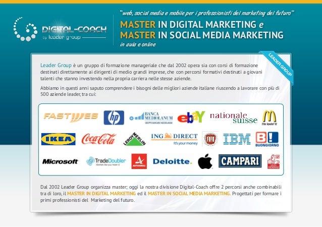 """""""web, social media e mobile per i professionisti del marketing del futuro""""                                      MASTER IN ..."""