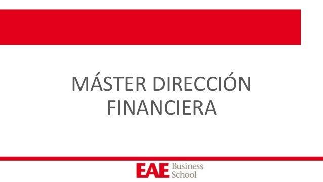 MÁSTER DIRECCIÓN FINANCIERA
