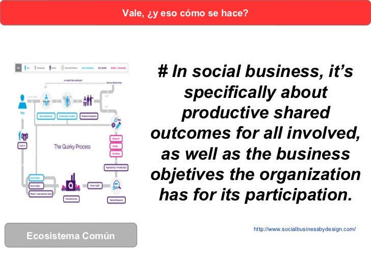 Vale, ¿y eso cómo se hace?                         # In social business, it's                             specifically abo...