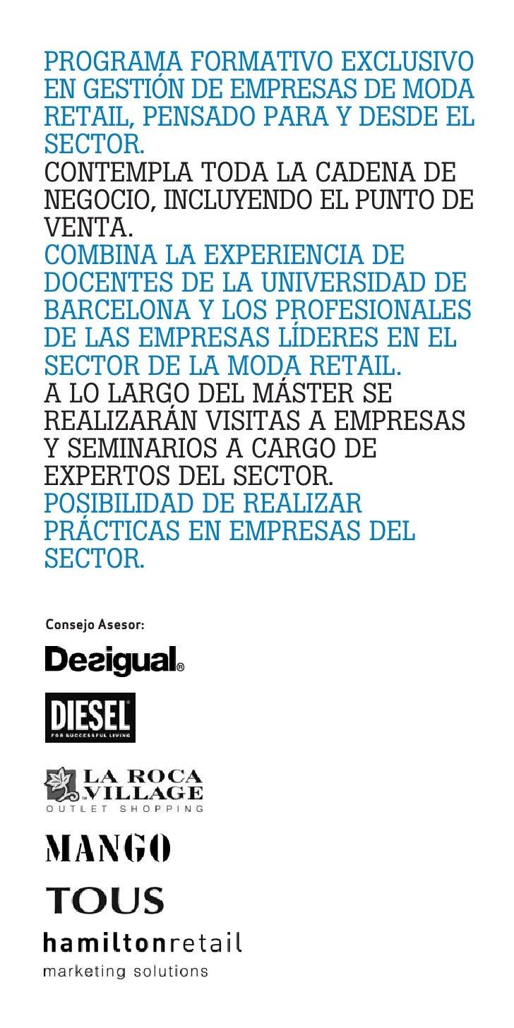 Master en gesti n de empresas de moda retail barcelona for Universidad de moda barcelona