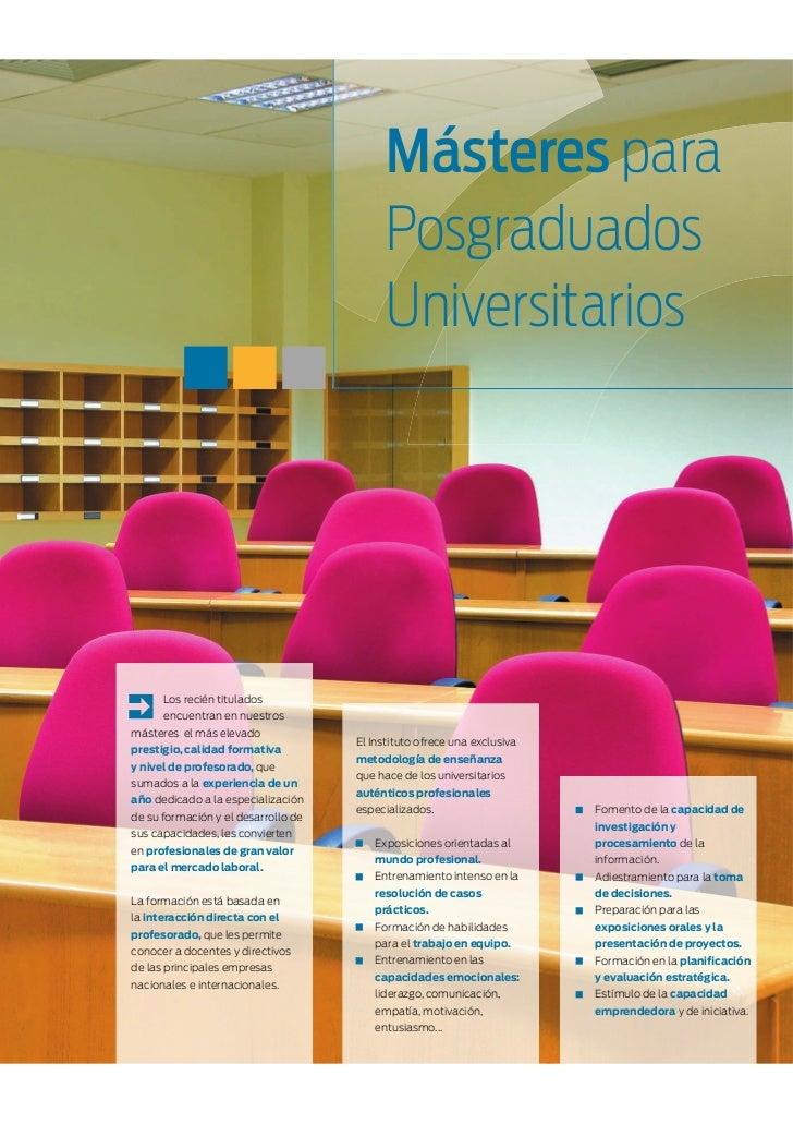 Másteres para                                           Posgraduados                                           Universitar...