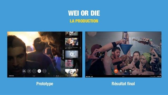 WEI OR DIE LA PRODUCTION Prototype Résultat final