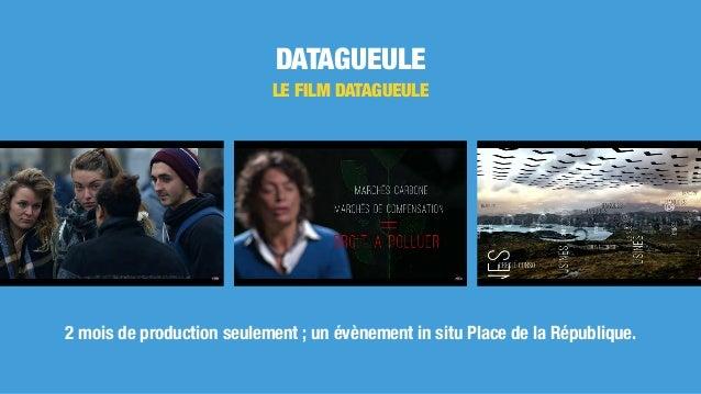 DATAGUEULE LE FILM DATAGUEULE 2 mois de production seulement ; un évènement in situ Place de la République.