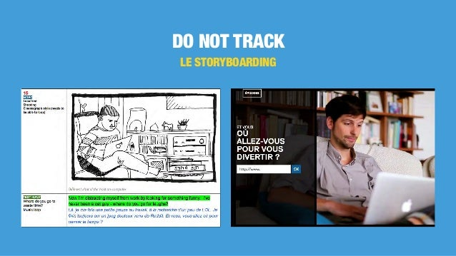 DO NOT TRACK LE STORYBOARDING