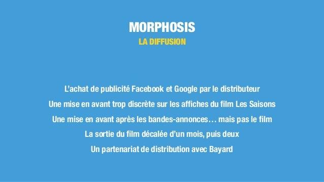 MORPHOSIS LA DIFFUSION L'achat de publicité Facebook et Google par le distributeur Une mise en avant trop discrète sur les...
