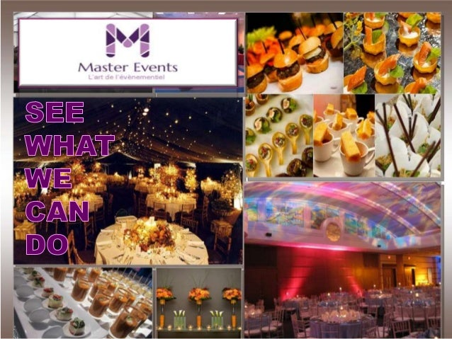 Master Events votre partenaire pour des événements exceptionels: • Vous souhaitez rassembler vos collaborateurs pour un re...
