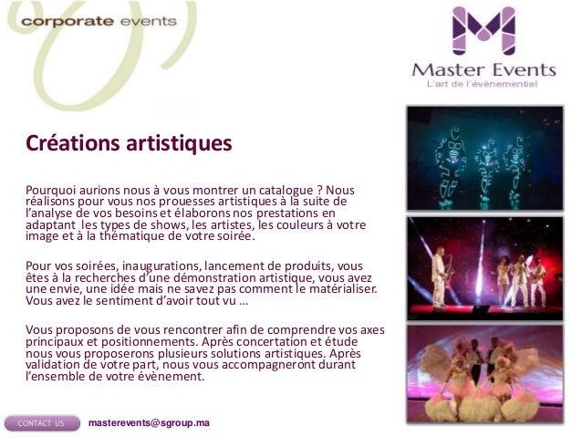 High Tech Events Master Events vous propose des prestations alliant innovation technique, exigence de qualité et souci de ...