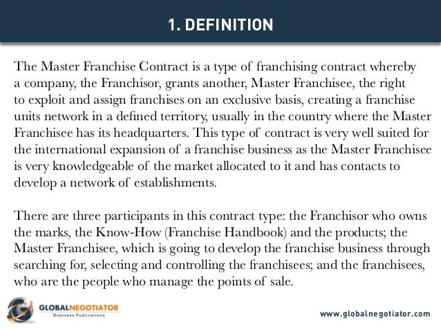 Master Franchise Contract
