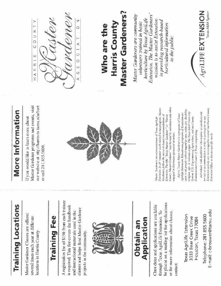 Master Gardener Brochure