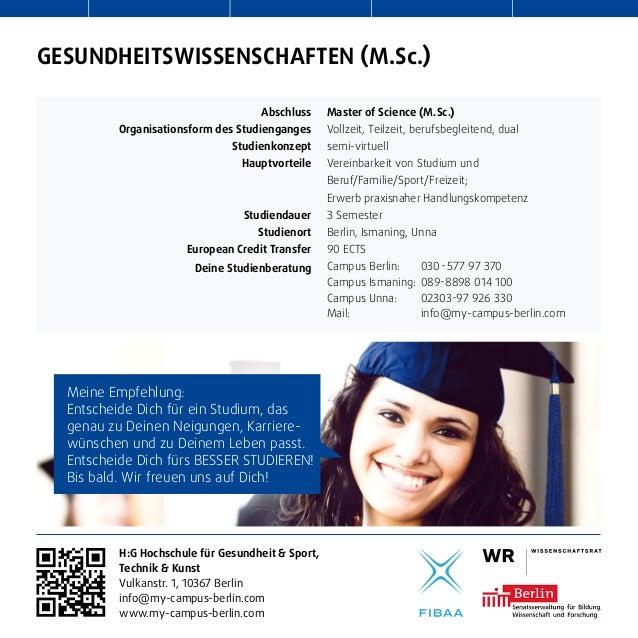 Gesundheitswissenschaften Studium Berlin