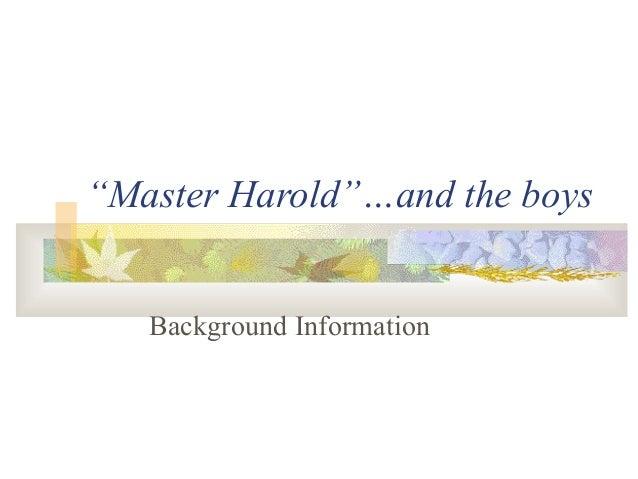 Master Haroldand The Boys