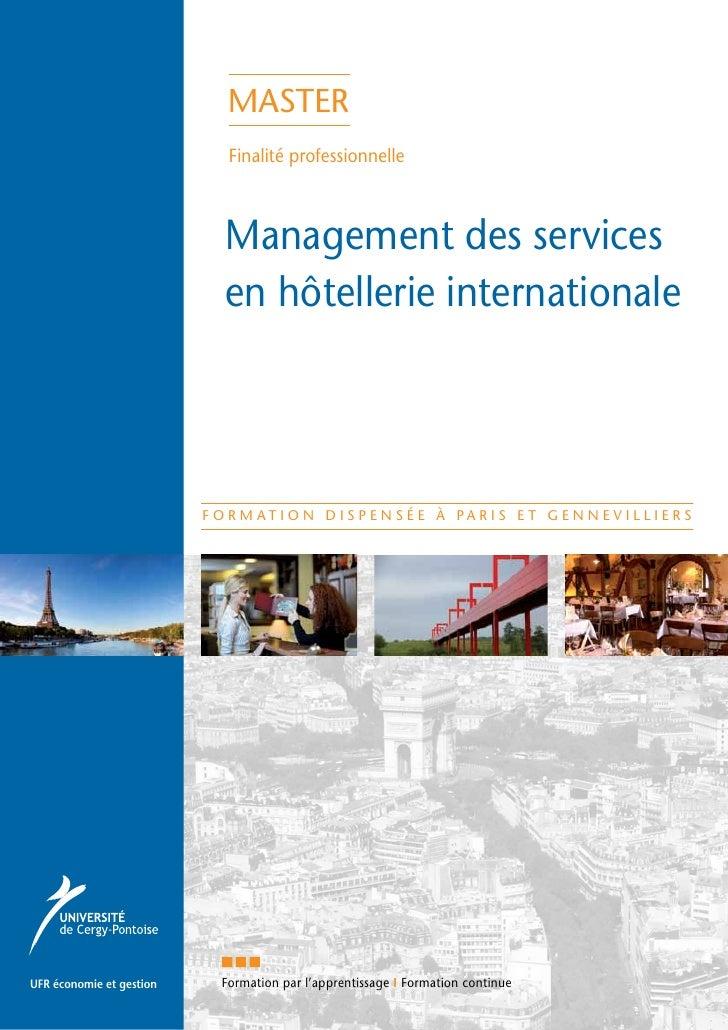 master                             Finalité professionnelle                            Management des services            ...