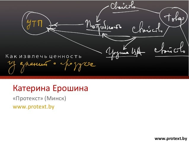 Катерина Ерошина «Протекст» (Минск) www.protext.by www.protext.by