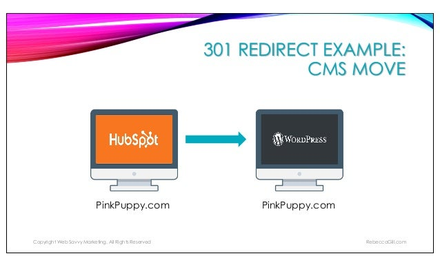 301 REDIRECT EXAMPLE: BUSINESS SALE Web-Savvy-Marketing.com/store/ Copyright Web Savvy Marketing, All Rights Reserved Rebe...