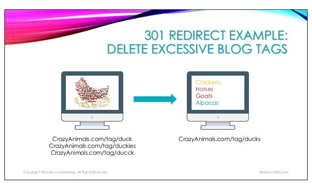 MANAGING 301 REDIRECTS: .HTACCESS FILE To implement a 301 redirect for websites that are hosted on servers running Apache,...
