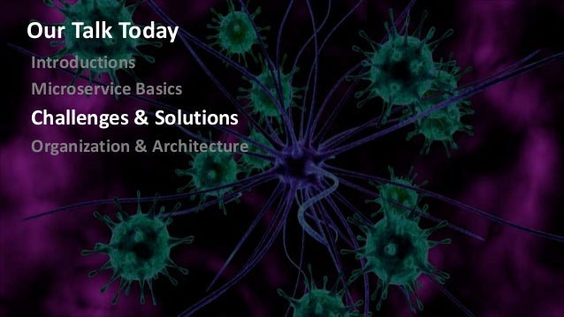 Introductions Microservice Basics Challenges & Solutions Organization & Architecture Our Talk Today