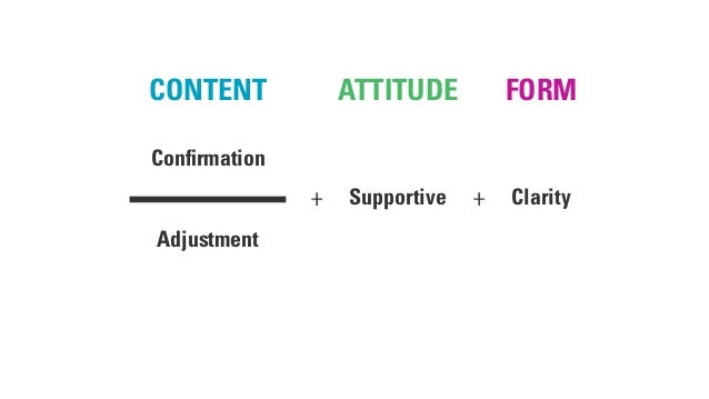 FORMCONTENT ATTITUDE Confirmation Adjustment Supportive Clarity+ +