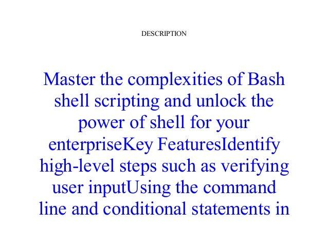 Mastering Shell Scripting Pdf