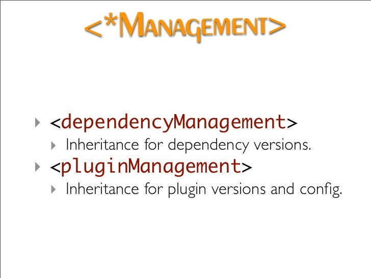 Dependency Analysis   ‣ See if overrides are colliding.   ‣ mvn dependency:analyze-dep-mgt