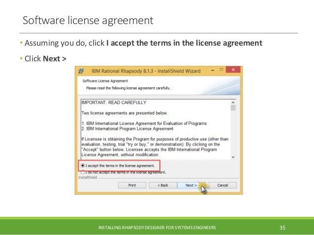 Installing installing ibm rational rhapsody designer and architect fo software license agreement platinumwayz
