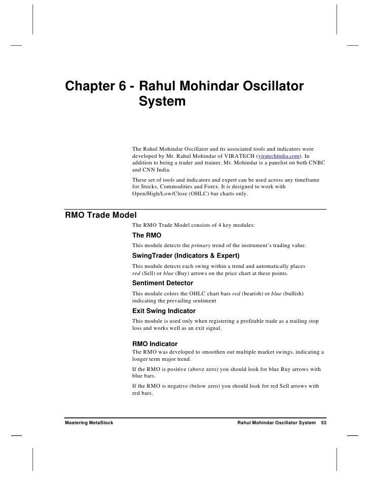 Chapter 6 - Rahul Mohindar Oscillator             System                         The Rahul Mohindar Oscillator and its ass...