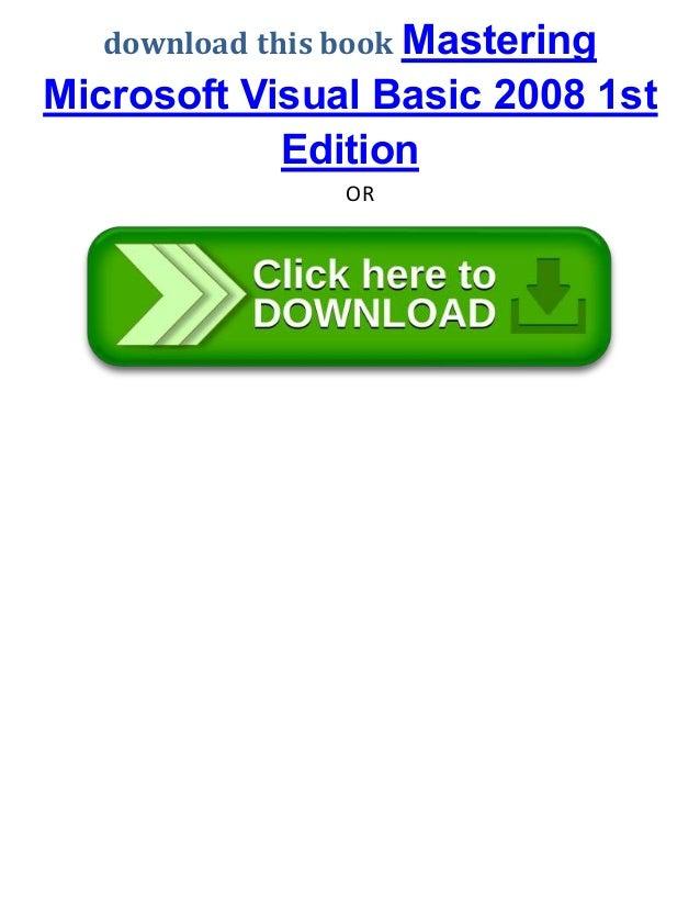 7 Download This Book Mastering Microsoft Visual Basic 2008