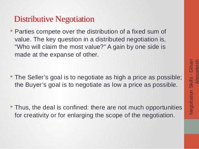 negotiation pdf Negotiation techniques the following general principles must be remembered and applied to negotiations for any site, service, or supplier.