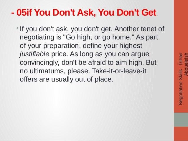 how to develop negotiation skills pdf