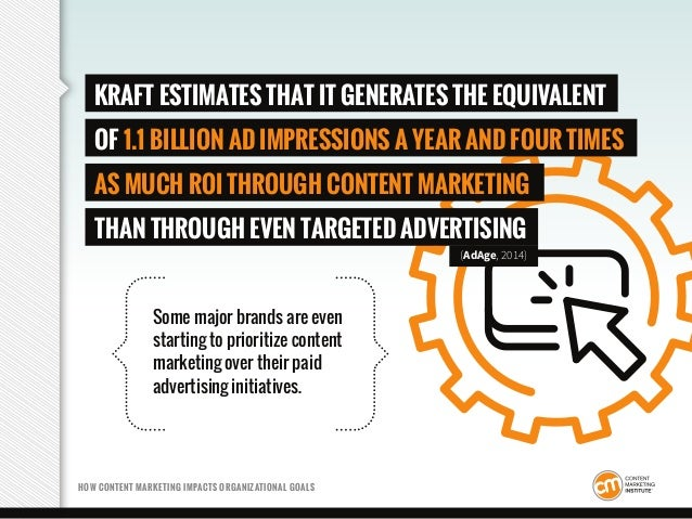 Some major brands are even starting to prioritize content marketing over their paid advertising initiatives. HOW CONTENT M...