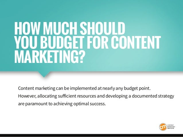 Content marketing can be implemented at nearly any budget point. However, allocating sufficient resources and developing a...