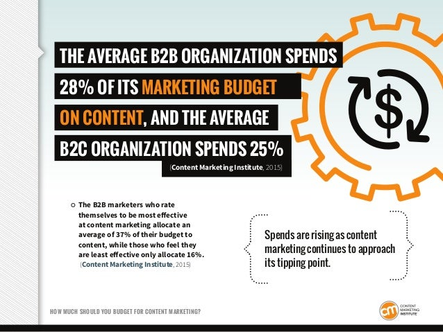The B2B marketers who rate themselves to be most effective at content marketing allocate an average of 37% of their budget...