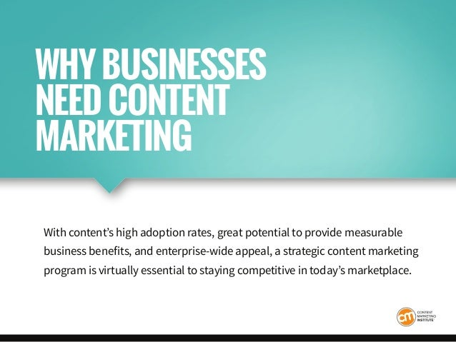 With content's high adoption rates, great potential to provide measurable business benefits, and enterprise-wide appeal, a...
