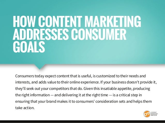 Consumers today expect content that is useful, is customized to their needs and interests, and adds value to their online ...