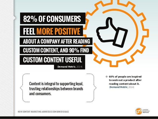Content is integral to supporting loyal, trusting relationships between brands and consumers. HOW CONTENT MARKETING ADDRES...