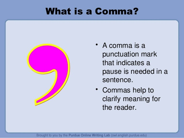 Upper Saddle River Nj >> Mastering the comma