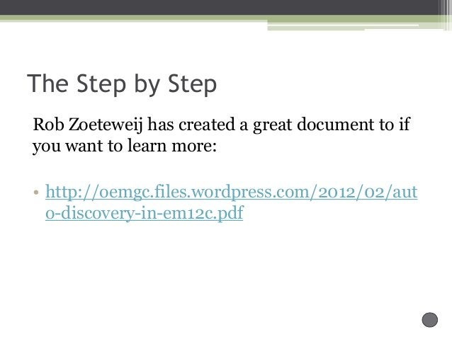 The Step by Step Rob Zoeteweij has created a great document to if you want to learn more: • http://oemgc.files.wordpress.c...