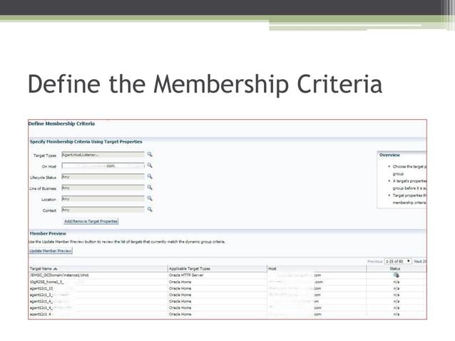 Define the Membership Criteria