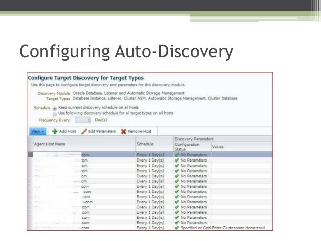 Configuring Auto-Discovery